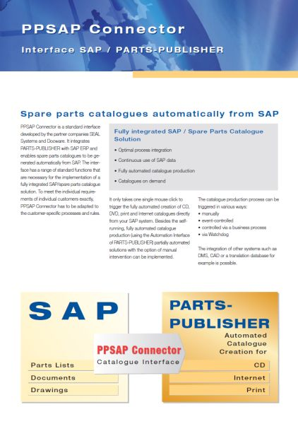 Spare parts catalogues directly from SAP